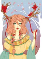 Reindeer Girl by Liaze