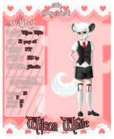 Kitty Cancan Cafe app - Wilson White by KujoSutefanii