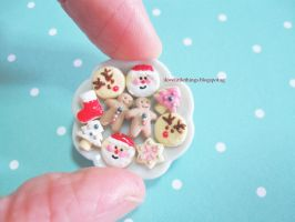 Miniature Christmas Cookies by ilovelittlethings