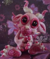polymer clay wild thing pinks by crazylittlecritters