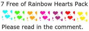 7 Free Of Rainbow Hearts Avatars Pack by Life-is-the-bubbles