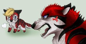 NO WAY IN HELL WERE RELATED by KasaraWolf