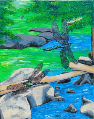 Dragonflies for Jen ~ Commission by KathrynPinkham