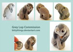 Grey Lop - Commission by Bittythings