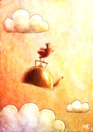 It's just a bird carrying a kettle by FriendlyFish