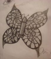 Bullet with Butterfly Wings by NurseTab