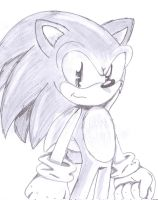 sonic shaded by SkyletAlexisJay