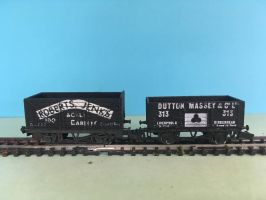 N Gauge Rolling Stock - Trucks in black by JennyRichardBlakina