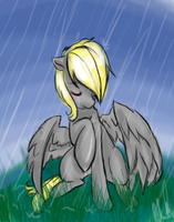 Sad Derpy by TimelessReference
