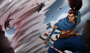 Yasuo fan splashart final by Mixglasses