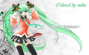 Finished miku color finally by Mikuhatsune1xx