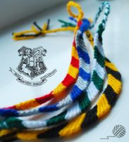 Hogwart house wristbands 2 by LoumaThread