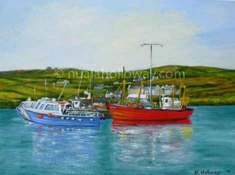 Boats At Portmagee by NualaHolloway