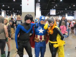 Captain America Nightwing and Bat Girl by WilbertCaptain