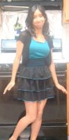 I wore a black and blue dress by Magic-Kristina-KW