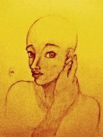 Girl With Shaved Head by SilvianArt