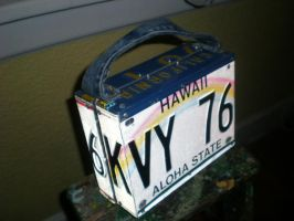 License  plate Book Case by aldosart