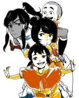 Korra and Little airbenders by mariisle
