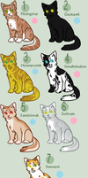 Breedable Warrior Cats [Open] by ND-Cattery