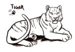 Vesperian Bestiary: Tiger by MoonsongWolf
