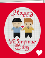 X-Stitch Spirk Valentines Card by black-lupin