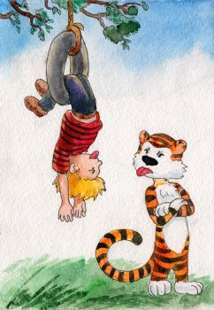 Calvin and Hobbes - gift by the-Name-of-the-Cat