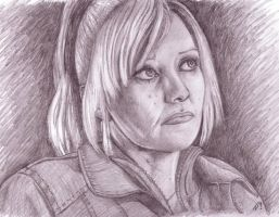 Camille Coduri - Jackie Tyler by Naomeart