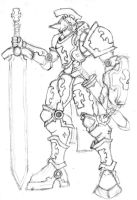Templar Knight - Rough by NoviceArtist487