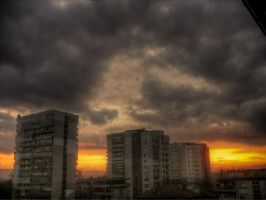 Varna city sunset by Mike-42