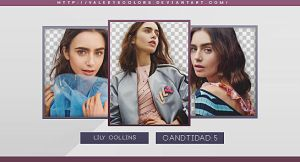 Lily Collins Png Pack by valeryscolors