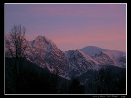 Mountains at twilight by Lady-CaT