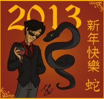 Happy Year of the Snake by Jean-Claude17