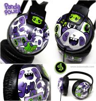 Panda Power Headphones by Bobsmade