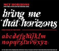 MCF_Horizons font by MisterChek