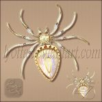 Brooch magical wish-fulfilling spider by Lyotta
