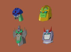 Transformers Animated Heads by Destron23