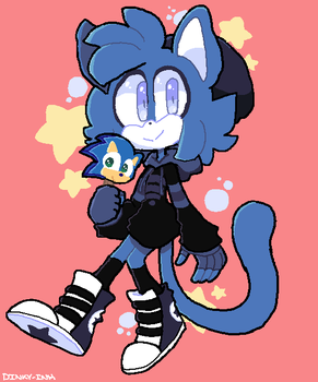 Blue cat by DINKY-INK