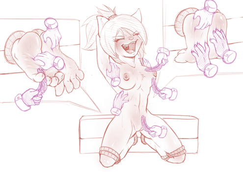 [Sketch] Rachel's Tickle Torment :3 by wtfeather