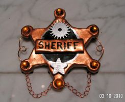 Steampunk Sheriff Badge by telepaths