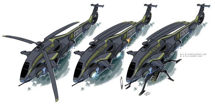 helicopter concept by m-u-h-a