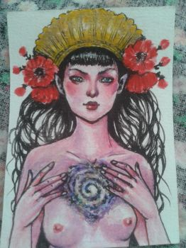 Little ACEO Under the skin by CellyMonteiro