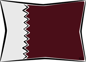 Qatar Flag by iAiisha