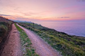 Road towards sunset. by MarioGuti