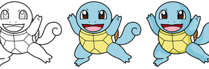 Squirtle sketch by Darkflow215