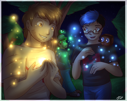 .: Magic Lights + speedpaint :. by AquaGD