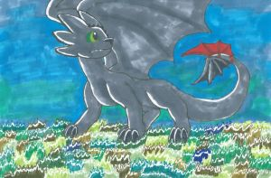 2013-Traditional-Copic markers- Toothless by ashe-the-hedgehog