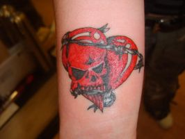 Heart Skull by GetSomeInk