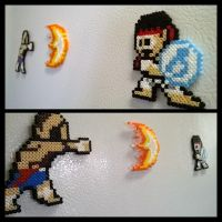 Sagat and Ryu by VoxelPerlers