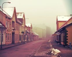 Foggy Street by BlondeFairytale
