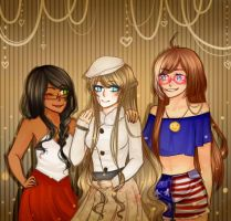 Tamesha, Arisha, Julieta by P-ristine